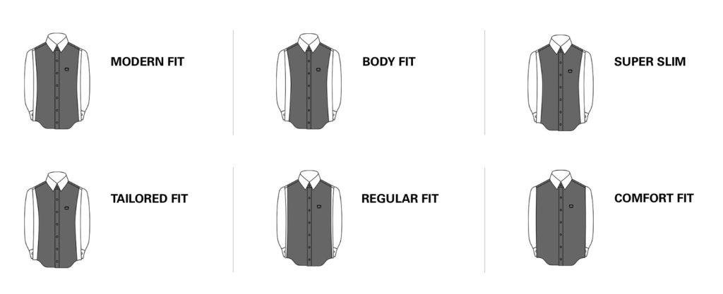 Chemises tailles